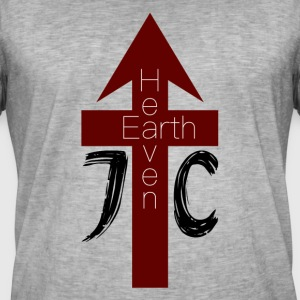 Heaven / Earth - Mannen Vintage T-shirt