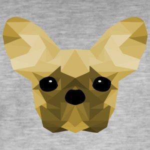 French Bulldog Low Poly Design yellow - Men's Vintage T-Shirt
