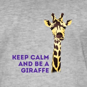 giraffe Keep Calm neck long africa animal cute - Men's Vintage T-Shirt