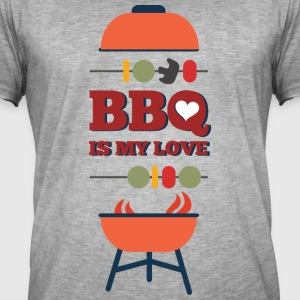 BBQ IS MY LOVE - Mannen Vintage T-shirt