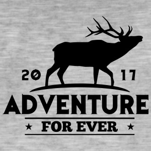 ADVENTURE FOR EVER - Deer - Koszulka męska vintage