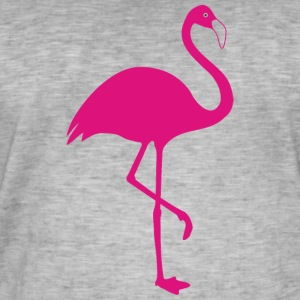 flamingo - Vintage-T-skjorte for menn