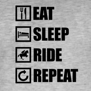 EAT SLEEP REPEAT RIDE - T-shirt vintage Homme