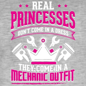 REAL PRINCESSES mechanic - Männer Vintage T-Shirt
