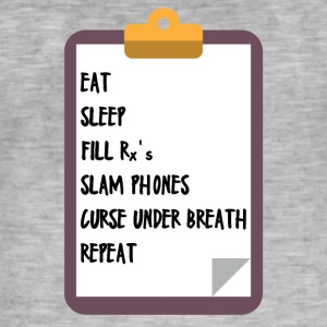 Doctor / Physician: Eat, Sleep, Fill Rx's, Slam Phones - Men's Vintage T-Shirt