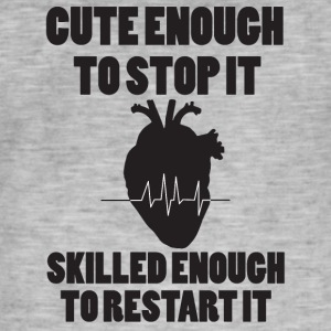 Doktor / Arzt: Cute Enough To Stop It. Skilled - Männer Vintage T-Shirt