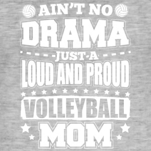 AINT NO DRAMA VOLLEYBALL MOM - Männer Vintage T-Shirt