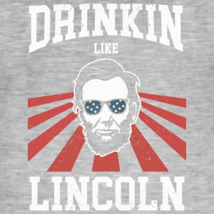 Drinking Like Lincoln - Männer Vintage T-Shirt