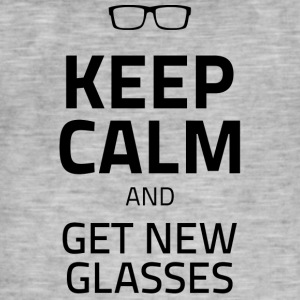 Opticians: Keep Calm And Get New Glasses - Men's Vintage T-Shirt
