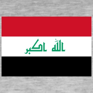 National Flag Of Iraq - Vintage-T-shirt herr