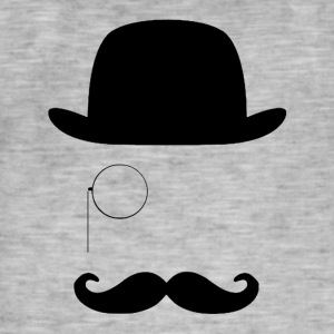 Gentleman with Moustache - Men's Vintage T-Shirt