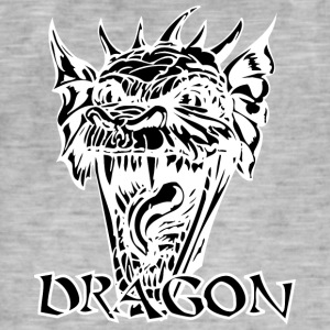 Diable dragon noir - T-shirt vintage Homme