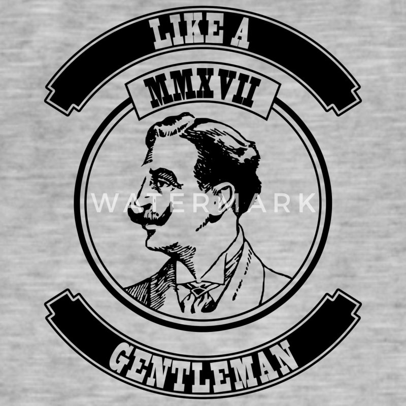 Like a Gentleman - Men's Vintage T-Shirt