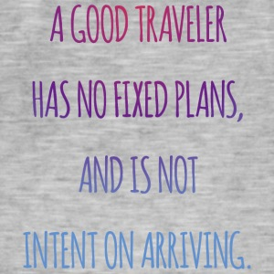 A good traveler has no fixed plans. - Men's Vintage T-Shirt