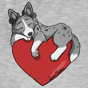 Border Collie Blue Merle Heart - Men's Vintage T-Shirt