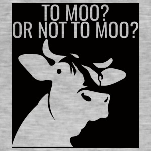 Cow / Farm: To Moo? Or Not To Moo? - Men's Vintage T-Shirt