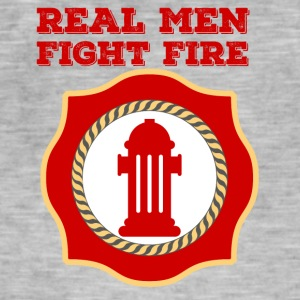 Fire Department: Real Men Fight Fire - Men's Vintage T-Shirt