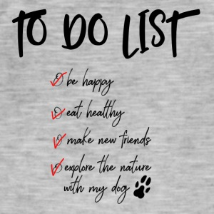 To do list for dog lovers - Men's Vintage T-Shirt