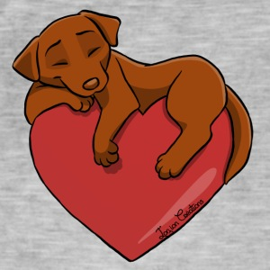 Labrador Chocolate Heart - Men's Vintage T-Shirt