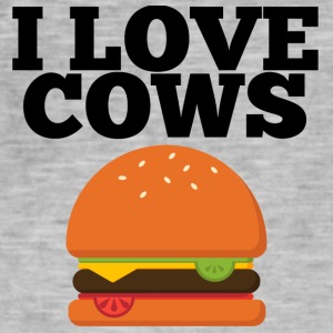 Cow / Farm: I Love Cows - Men's Vintage T-Shirt