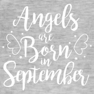 Angels are born in September - Men's Vintage T-Shirt
