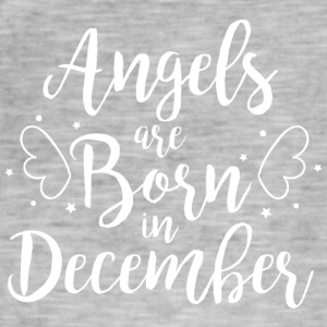 Angels are born in December - Men's Vintage T-Shirt