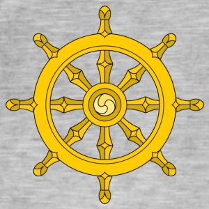Dharma Wheel/ships wheel - Men's Vintage T-Shirt