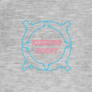 Kissing Point blauw en roze - Mannen Vintage T-shirt
