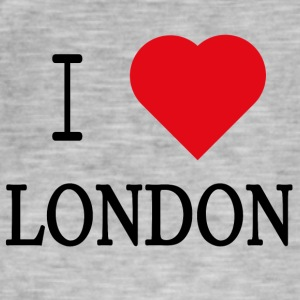 I Love London - Vintage-T-skjorte for menn