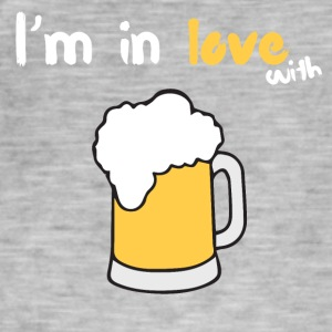 I'm in love with beer - Men's Vintage T-Shirt
