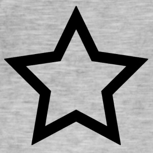 Black Star - Vintage-T-skjorte for menn