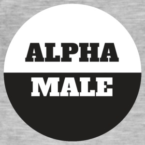 Alpha Male - Vintage-T-skjorte for menn