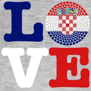 CROATIA HEART - Men's Vintage T-Shirt
