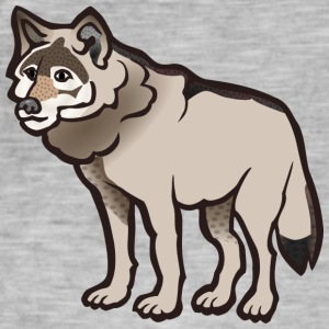 Sad and lonely wolf - Men's Vintage T-Shirt