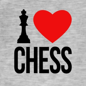 I LOVE CHESS - Männer Vintage T-Shirt