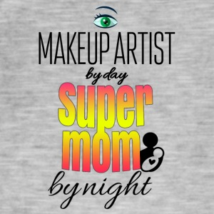 Makeup artist dag super mamma by night - Vintage-T-shirt herr