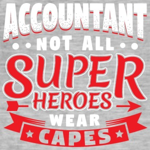 IKKE ALLE SUPER HEROES SLITASJE CAPES - ACCOUNTANT - Vintage-T-skjorte for menn