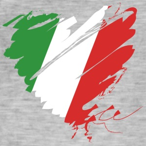 Heart Cuore Italy Italy Calcio Italiano Football - Men's Vintage T-Shirt