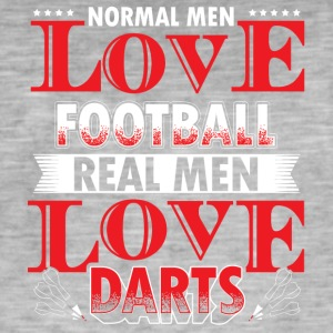 DARTS - REAL MEN LOVE DARTS - Men's Vintage T-Shirt