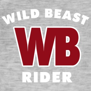 WILDBEAST RIDER - Men's Vintage T-Shirt