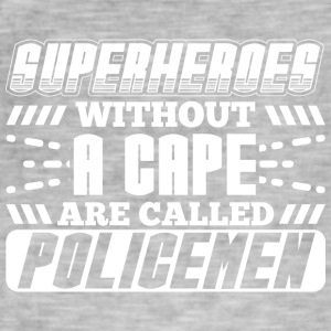 SUPERHEROES POLICE - Men's Vintage T-Shirt