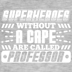 SUPER HEROES PROFESSOR - Vintage-T-skjorte for menn