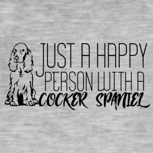 Hund / Cocker Spaniel: Just A Happy Person With A - Männer Vintage T-Shirt