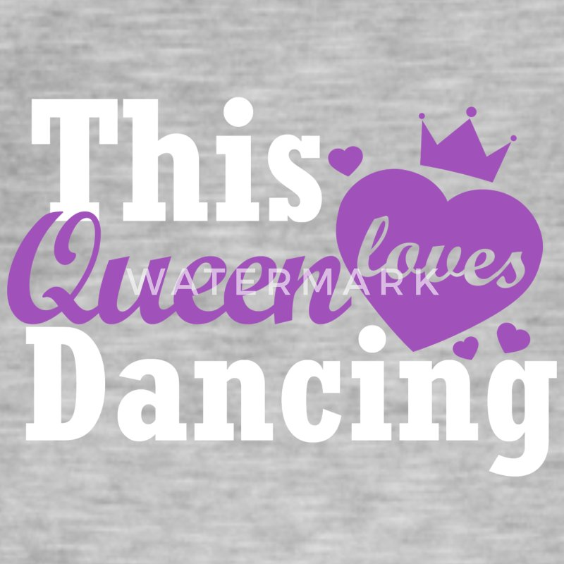 This queen loves dancing - Men's Vintage T-Shirt