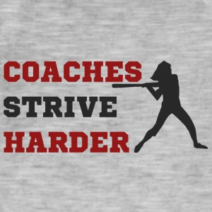 Coach / Trainer: Coaches Strive Harder - Männer Vintage T-Shirt