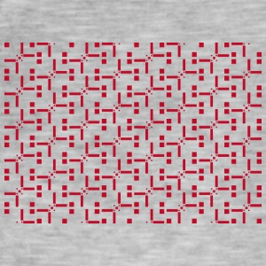 Mobile housing red pattern - Men's Vintage T-Shirt