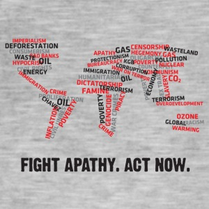 Fight Apathy. Act Now! - Men's Vintage T-Shirt
