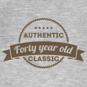 40. Geburtstag: Authentic - Forty Year Old - Class - Männer Vintage T-Shirt