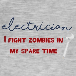 Electrician: Electrician - I fight zombies in my sp - Men's Vintage T-Shirt