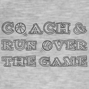 Coach / tränare: Coach & Run Over The Game - Vintage-T-shirt herr